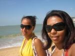 juntinhas na praia
